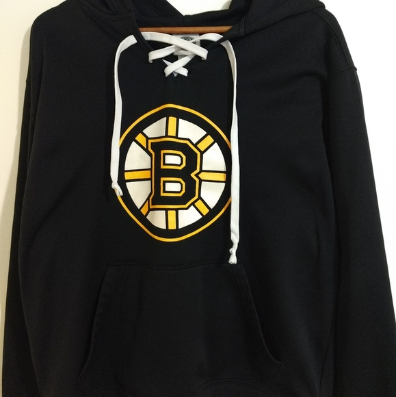 new style a16e7 d3be9 Boston Bruins Lace Up 🏒 Hoodie Official NHL